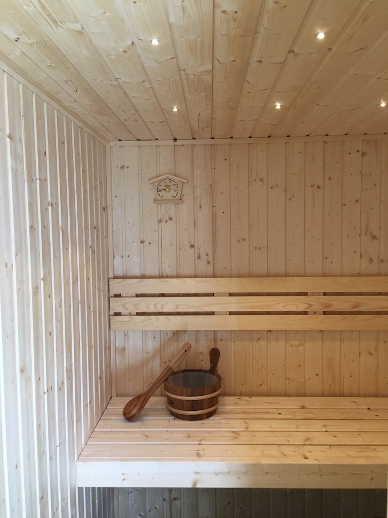 Nordic Spruce Sauna with LED Lights Installed by Sauna HQ