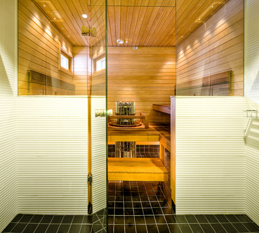 Exterior View of a Large Steam Shower Room