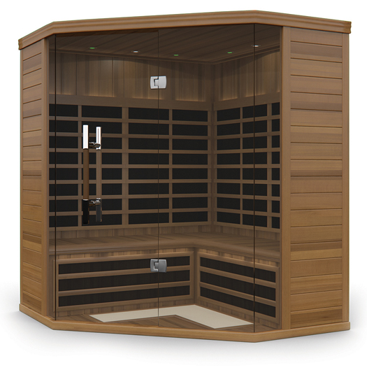 Shows a Large Infrared Sauna